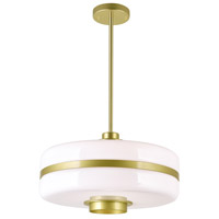 CWI Lighting 1143P16-1-270 Elementary 1 Light 16 inch Pearl Gold Down Pendant Ceiling Light