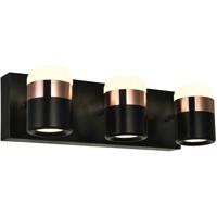 CWI Lighting 1147W16-3-101 Moxie 16 inch Black Vanity Light Wall Light