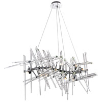 CWI Lighting 1154P39-10-601 Icicle 10 Light 21 inch Chrome Chandelier Ceiling Light