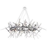 CWI Lighting 1154P43-12-601-O Icicle 12 Light 27 inch Chrome Chandelier Ceiling Light