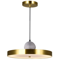 CWI Lighting 1156P16-625 Saleen 16 inch Brass and Black Pendant Ceiling Light