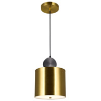 CWI Lighting 1156P9-625 Saleen 9 inch Brass and Black Mini Pendant Ceiling Light