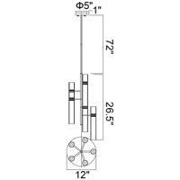 CWI Lighting 1161P12-10-624 Lara 10 Light 12 inch Brass Down Mini Chandelier Ceiling Light