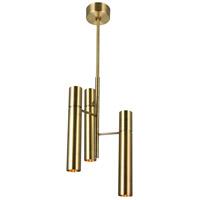 CWI Lighting 1161P12-6-624 Lara 6 Light 12 inch Brass Down Mini Chandelier Ceiling Light