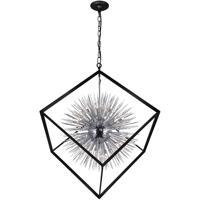 CWI Lighting 1178P44-20-601 Starburst 20 Light 44 inch Chrome and Black Down Chandelier Ceiling Light