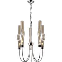 CWI Lighting 1203P16-5-613 Meduse 5 Light 16 inch Polished Nickel Up Chandelier Ceiling Light