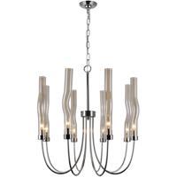 CWI Lighting 1203P21-8-613 Meduse 8 Light 21 inch Polished Nickel Up Chandelier Ceiling Light