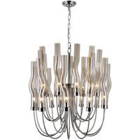 CWI Lighting 1203P29-22-613 Meduse 22 Light 29 inch Polished Nickel Up Chandelier Ceiling Light