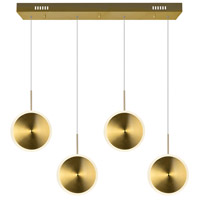 CWI Lighting 1204P30-4-625 Ovni 30 inch Brass Island/Pool Table Ceiling Light