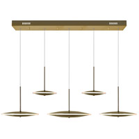 CWI Lighting 1204P43-5-625-A Ovni 43 inch Brass Island/Pool Table Ceiling Light