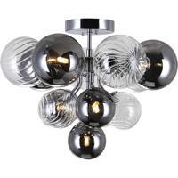 CWI Lighting 1205C16-6-601 Pallocino 6 Light 16 inch Chrome Flush Mount Ceiling Light