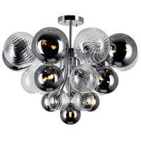 CWI Lighting 1205C25-10-601 Pallocino 10 Light 25 inch Chrome Flush Mount Ceiling Light