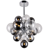 CWI Lighting 1205P16-8-601 Pallocino 8 Light 16 inch Chrome Down Chandelier Ceiling Light