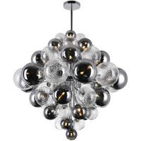 CWI Lighting 1205P36-27-601 Pallocino 27 Light 36 inch Chrome Down Chandelier Ceiling Light