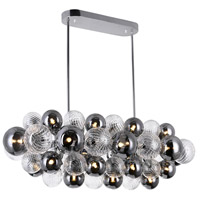 CWI Lighting 1205P39-27-601 Pallocino 27 Light 39 inch Chrome Island/Pool Table Ceiling Light