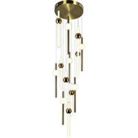 CWI Lighting 1208P32-13-625 Baton 32 inch Brass Multi Point Pendant Ceiling Light