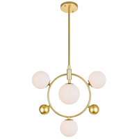 CWI Lighting 1212P16-4-169 Celeste 4 Light 16 inch Medallion Gold Down Pendant Ceiling Light