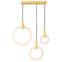 CWI Lighting 1214P30-3-236-RC Anello 30 inch White Oak Island/Pool Table Ceiling Light