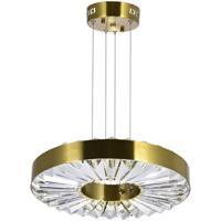 CWI Lighting 1219P16-1-625 Bjoux 16 inch Brass Down Chandelier Ceiling Light