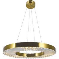 CWI Lighting 1219P24-1-625 Bjoux 24 inch Brass Down Chandelier Ceiling Light