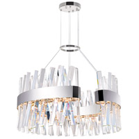 CWI Lighting 1220P24-601-C Glace 24 inch Chrome Chandelier Ceiling Light
