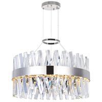 CWI Lighting 1220P24-601 Glace 24 inch Chrome Chandelier Ceiling Light