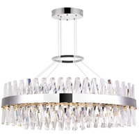CWI Lighting 1220P40-601-O Glace 40 inch Chrome Island/Pool Table Ceiling Light