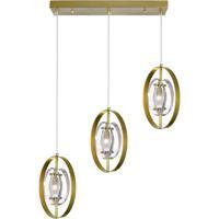 CWI Lighting 1224P22-3-625 Iris 3 Light 22 inch Brass Island/Pool Table Ceiling Light