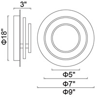 CWI Lighting 1239W9-101 Private I 9 inch Matte Black Wall Sconce Wall Light