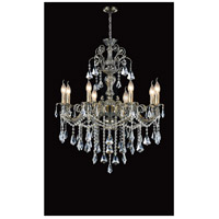 CWI Lighting 2011P30AB-8 Brass 8 Light 30 inch Antique Brass Chandelier Ceiling Light