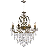 CWI Lighting 2015P30AB-8 Brass 8 Light 30 inch Antique Brass Chandelier Ceiling Light