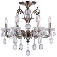 CWI Lighting 2016C24AB-6 Flawless 6 Light 24 inch Antique Brass Flush Mount Ceiling Light