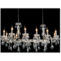 CWI Lighting 2016P46C-12 Flawless 12 Light 46 inch Chrome Chandelier Ceiling Light