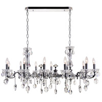 CWI Lighting 2016P46C-12 Flawless 12 Light 46 inch Chrome Up Chandelier Ceiling Light
