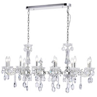 CWI Lighting 2016P46S-12 Flawless 12 Light 46 inch Silver Up Chandelier Ceiling Light