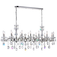 CWI Lighting 2016P54S-14 Flawless 14 Light 54 inch Silver Chandelier Ceiling Light