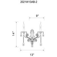 CWI Lighting Black Metal Wall Sconces