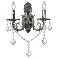CWI Lighting 2022W16AB-2 Brass 2 Light 9 inch Antique Brass Wall Sconce Wall Light