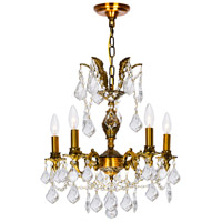 Brass 5 Light 18 inch French Gold Chandelier Ceiling Light
