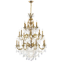 CWI Lighting 2039P40GB-24 Brass 24 Light 40 inch French Gold Up Chandelier Ceiling Light