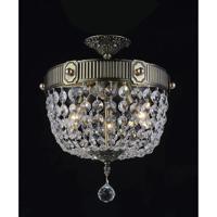 CWI Lighting 2048C13AB Brass 3 Light 13 inch Antique Brass Bowl Flush Mount Ceiling Light