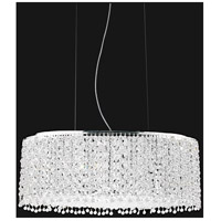 CWI Lighting 4101P26C-O-CLEAR Glitz 15 Light 28 inch Chrome Island Chandelier Ceiling Light