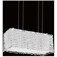 CWI Lighting 4101P27C-RC-CLEAR Glitz 18 Light 27 inch Chrome Island Chandelier Ceiling Light