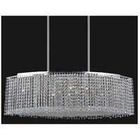CWI Lighting 4101P35C-O(CLEAR) Glitz 15 Light 35 inch Chrome Island Chandelier Ceiling Light