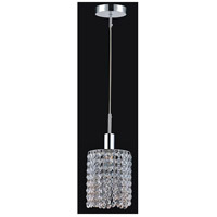 CWI Lighting 4281P-R-R-CLEAR-CRYSTAL Glitz 1 Light 6 inch Chrome Pendant Ceiling Light