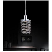 CWI Lighting 4281P-R-S-BLACK/CLEAR Glitz 1 Light 5 inch Chrome Pendant Ceiling Light