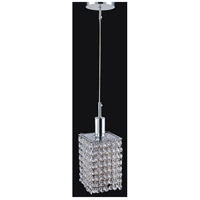 CWI Lighting 4281P-R-S-CLEAR-CRYSTAL Glitz 1 Light 5 inch Chrome Pendant Ceiling Light