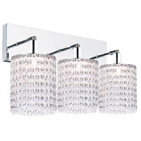 CWI Lighting 4283W-RC-R-(CLEAR) Glitz 3 Light 20 inch Chrome Wall Sconce Wall Light