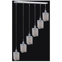 CWI Lighting 4286P-RC-S-CLEAR-CRYSTAL Glitz 6 Light 42 inch Chrome Chandelier Ceiling Light