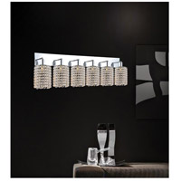 CWI Lighting 4286W-RC-R-(CLEAR) Glitz 6 Light 5 inch Chrome Wall Sconce Wall Light